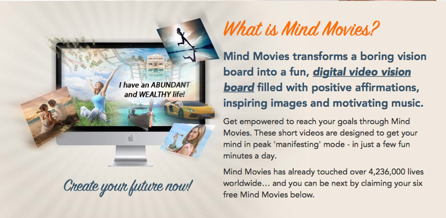 How to create a digital vision board online using Mind Movies to harness the Law of Attraction. | www.TheRenegadeBoomer.com