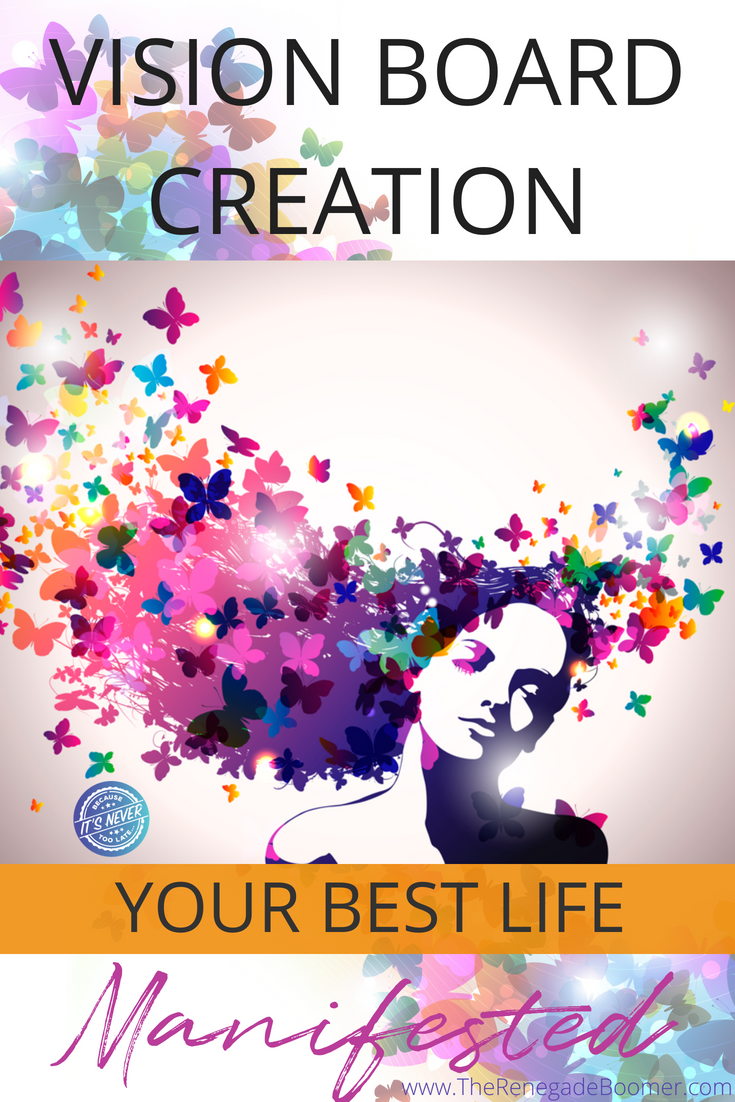 Create a DIY vision board with the amazing ideas in this article. Tina explains how to create a successful vision board for your business or personal life using paper or create a digital vision board online. She explains planning, gives examples, free printables, and best inspiration for achieving your goals! Use the Law of Attraction to unlock the power of your subconscious mind in 2018 Don't miss this article! | www.TheRenegadeBoomer.com
