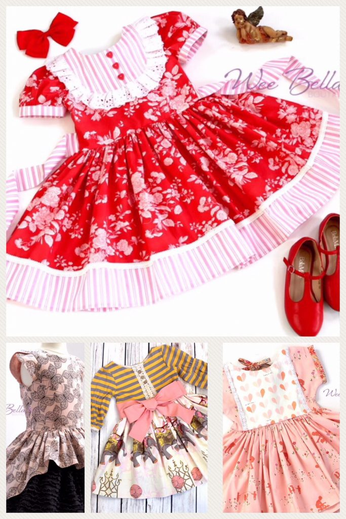 Wee Bella Boutique dress collage